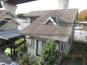 エスケープレミアムシリコンSR416 屋根ダークグリーン太白区T様邸屋根外壁塗装