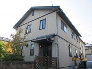 エスケープレミアムシリコンプラン(外壁 1F SR414、2F SR161 屋根コーヒーブラック)富谷市M様邸屋根外壁塗装工事