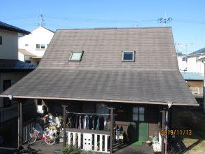 エスケープレミアムルーフsiコーヒーブラック屋根塗装工事 青葉区赤坂S様邸