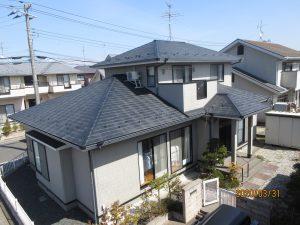 エスケープレミアムシリコンSR165、RC110東松島市S様邸屋根外壁塗装工事