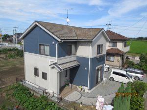 モニエル瓦、プレミアムシリコンプラン 名取市K様邸屋根外壁塗装工事