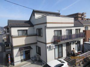 エスケープレミアムシリコン(SR407、SR414)石巻市K様邸屋根外壁塗装工事