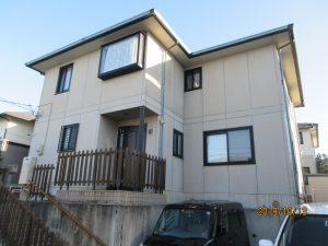 エスケーシリコンプラン(外壁…1F SR111、2FSR414 屋根…ココナッツブラウン)泉区H様邸屋根外壁塗装工事
